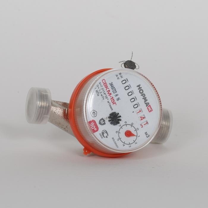 Счётчик СВК-15 Г 90гр 1.5м3/час ( НОРМА )