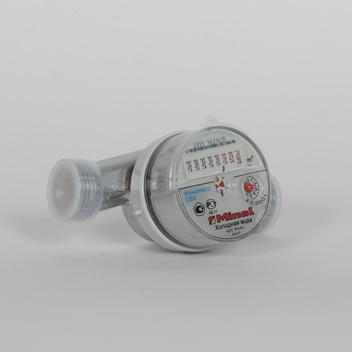 Счетчик воды (хол.) Minomess Ду 20, 130 мм, Qn 1.5 до 40* Квартирный