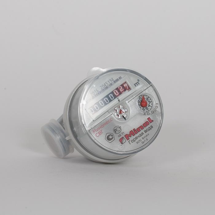 Счетчик воды(гор) Minomess Ду 15, 80 мм, Qn 1.5 до 90* Квартирный